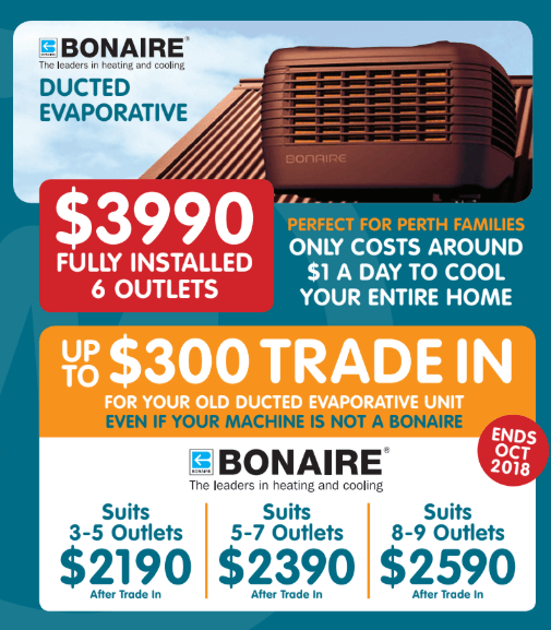 Bonaire Ducted Evaporative October Offers