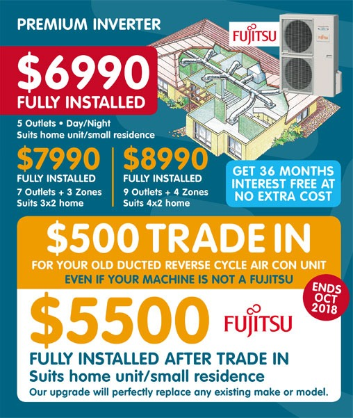 Fujitsu Premium Inverter October Offers